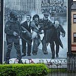 derry n Ireland civil rights mural justice