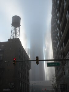 Downtown Detroit in the Fog. Photo by Alison Stein Wellner