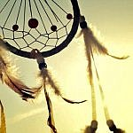 dreamcatcher native american sunlight