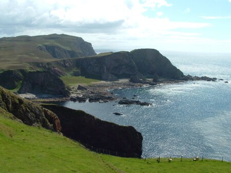 The stunning sea view from the clifftops of the Mull of Oa, on Scotland's Isle of Islay
