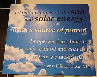 Thomas Edison solar energy quote