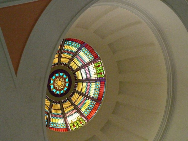 stained glass Florida Capitol Dome Tallahassee