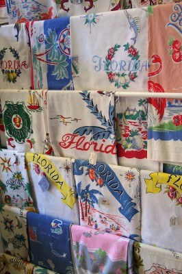 Antique Florida tea towels (Scarborough photo)