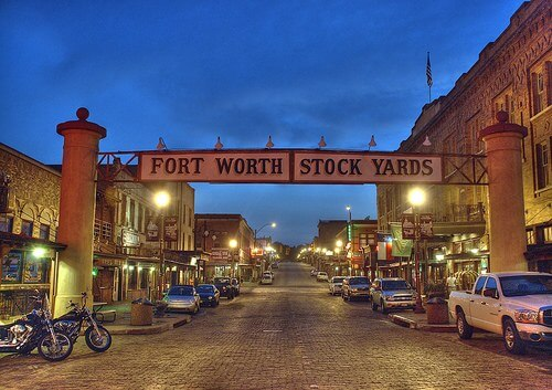 Fort Worth, Texas Stockyards (courtesy traveller2020 on Flickr's Creative Commons.)