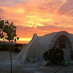 Texas dark sky glamping dome