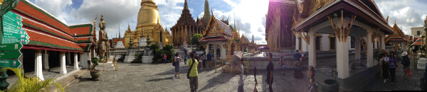 Panorama of Bangkok's Grand Palace