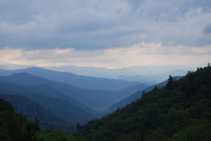 great smoky mountains evening