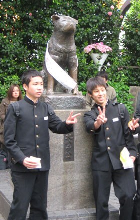 The Famous Hachiko Statue in Tokyo