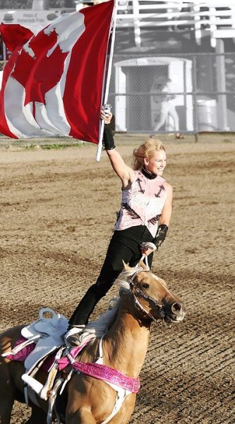rodeo rider canada flag