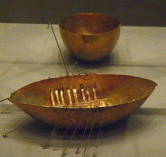 gold boat nationa museum of ireland archaeology by kerry dexter