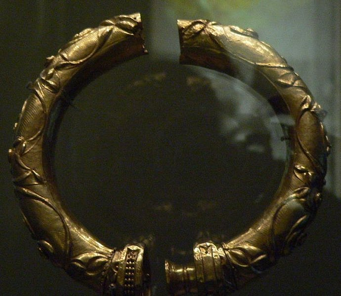 gold torc national museum archaeology ireland by kerry dexter