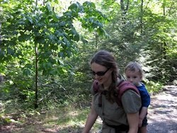 Baby on my back: hiking near home in upstate New York