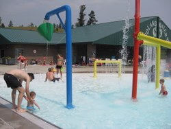 The kiddie pool at Woodland Water Park in Kalispell, Montana