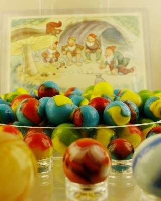 Colorful marbles at the Toy and Miniature Museum of Kansas City (photo by Sheila Scarborough)