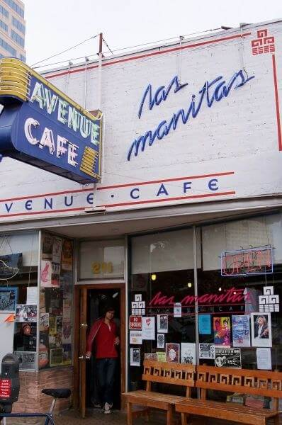 The Las Manitas Avenue Cafe, Austin Texas.