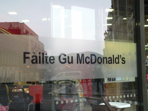 scottish gaelic sign in inverness scotland