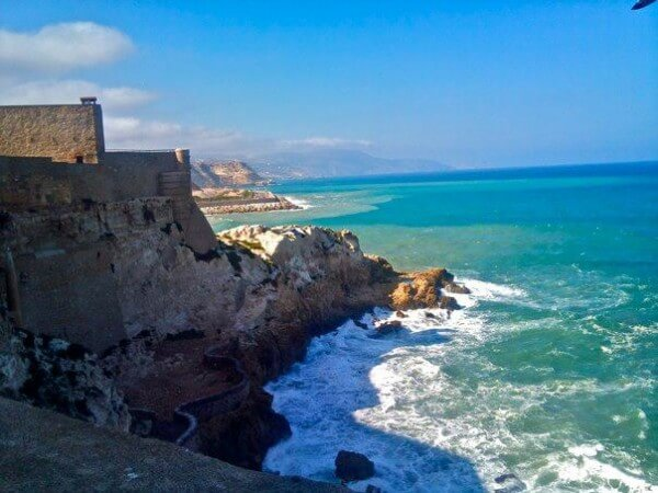 Melilla's old town juts out on a rocky peninsula into the Alboran Sea. The Autonomous Spanish city is located just outside the Moroccan city of Nador, in the Rif Region of Morocco