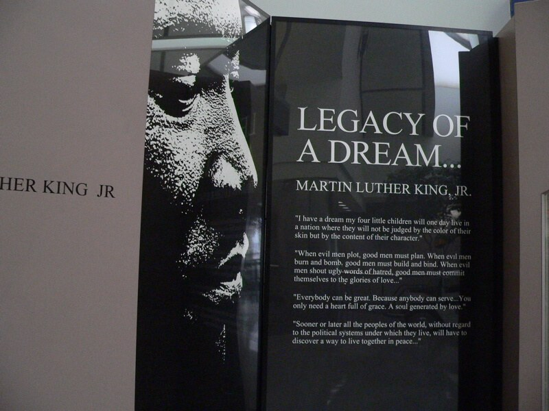 martin luther king exhibit atlanta airport photo by kerry dexter