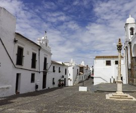 empty square in Alentejo Portugal
