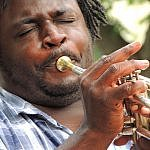 new orleans musician with horn