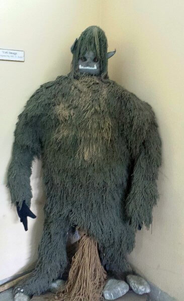 Yeti representation in the mountain museum