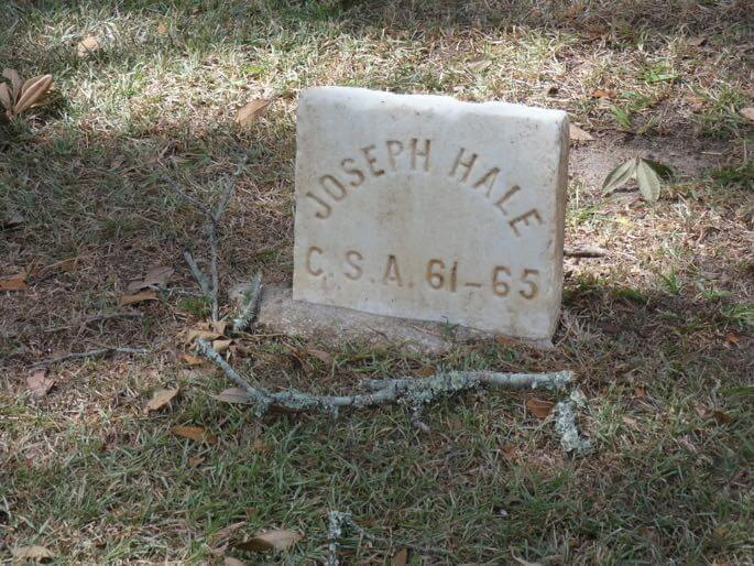 old city cemetery confederate soldier grave marker