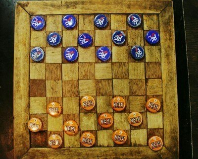 Mast General Store, Valle Crucis North Carolina, an old-timey checkers game (Scarborough photo)