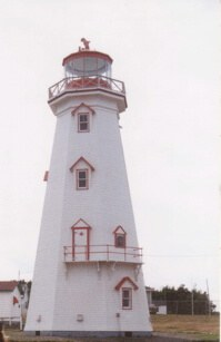 Lighthouse on one of the windy tips of beautiful Prince Edward Island