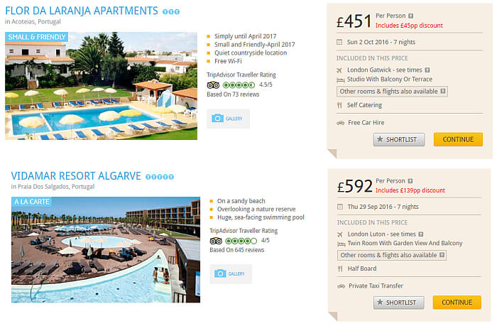 package holiday deals Portugal
