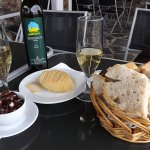dining in Portugal wine and cheese
