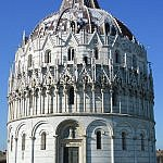 Baptistry building in Pisa, which you can see near the famous tower on a day trip from Florence
