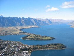 Birdseye view of Queenstown