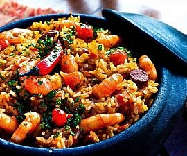 rice peppers shrimp