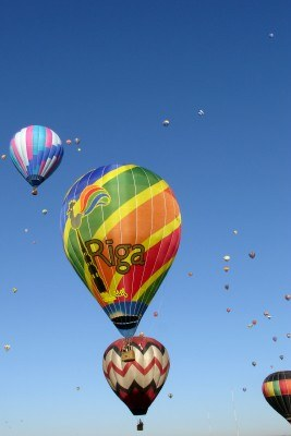 A balloon from Riga, Latvia at the Albuquerque, New Mexico Balloon Fiesta (Scarborough photo)