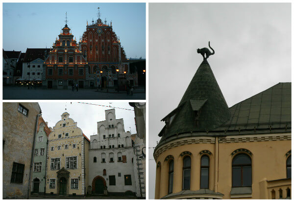 Riga Old Town. The style of the city's historic core is vastly different to the surrounding boulevards.