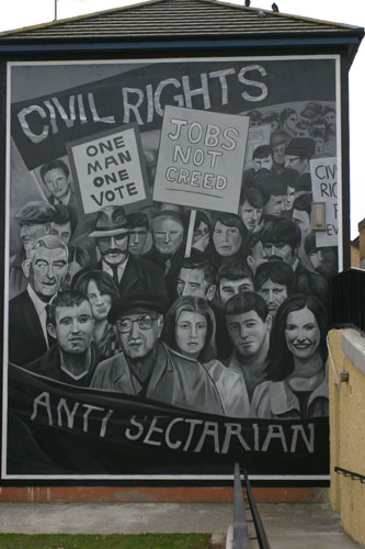 civil rights derry mural
