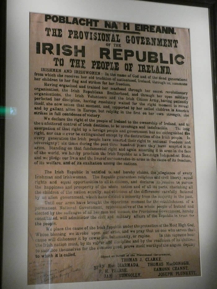 rising proclamation Irish Republic by Kerry Dexter