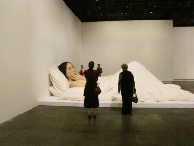 christchurch art gallery has the ron mueck exhibition