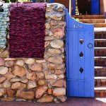 santa fe new mexico blue door