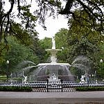 historic fountain in forsyth park savannah georgia