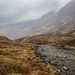 scotland mist mountains saint andrews day