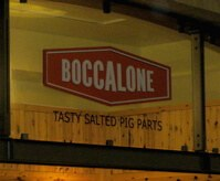 Boccalone specializes in just what its sign advertises: it's tasty, it's salted, it's pig parts.