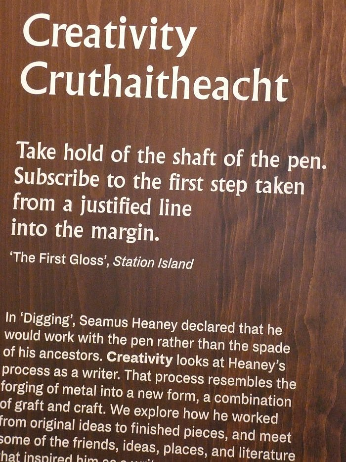 seamus heaney creativty ireland