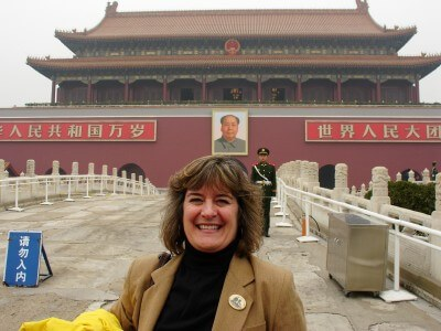 Sheila at the Forbidden City, Beijing, China