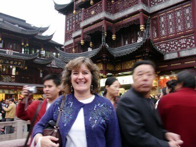 Walking through Yuyuan Gardens, Shanghai, China (photo courtesy Sheila Scarborough)