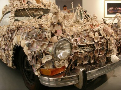 Shell-studded Citroën at Houston's ArtCar Museum (Scarborough photo)