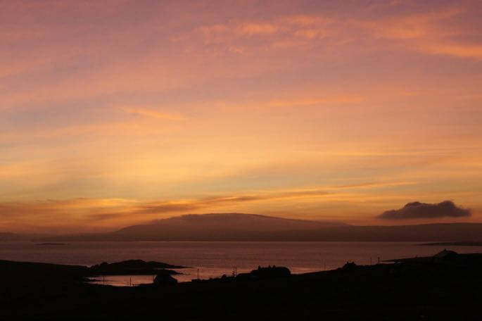 shetland autumn colors sunset mike pennington