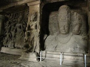 shiva caves elephanta island mumbi india