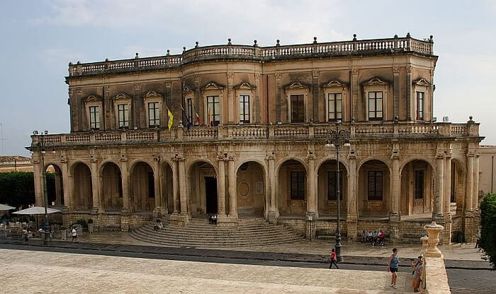 Noto Town Hall, UNESCO World Heritage site in Sicily