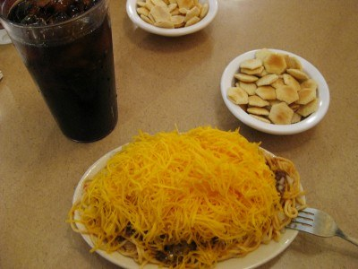 Food that sticks to your ribs at Skyline Chili, Dayton, Ohio (photo by Sheila Scarborough)